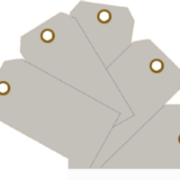 Plain Eye-Loop ID Tags Grey