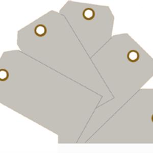 Plain Eye-Loop ID Tags Grey