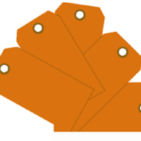 Plain Eye-Loop ID Tags Orange