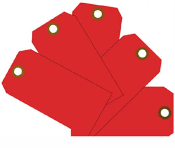 Plain Eye-Loop ID Tags Red