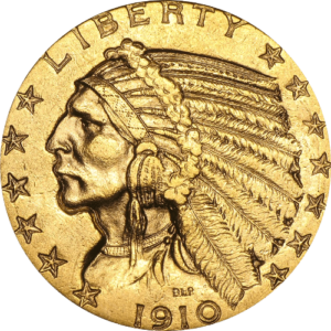 $2 1/2 Gold Indian Head - Quarter Eagle (XF or Better)