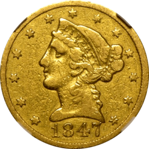 $5 Gold Liberty - Half Eagle (XF or Better)