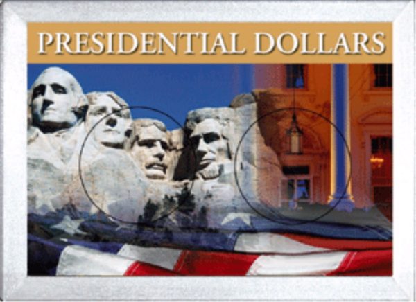 Presidential Dollar Frosty Case — 2 Hole