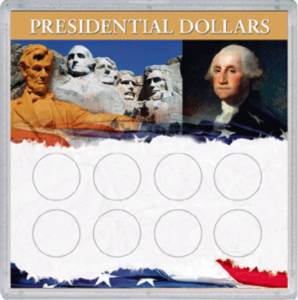 Presidential Dollar Frosty Case — 8 Holes