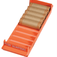 Quarter Interlocking Coin Roll Trays