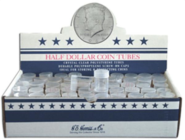 Round Coin Tube-Half-Dollar, 100/bx