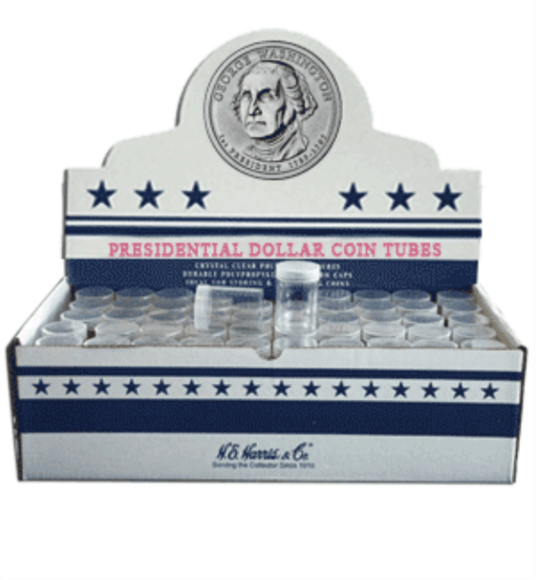 Round Coin Tube-Presidential, 100/bx