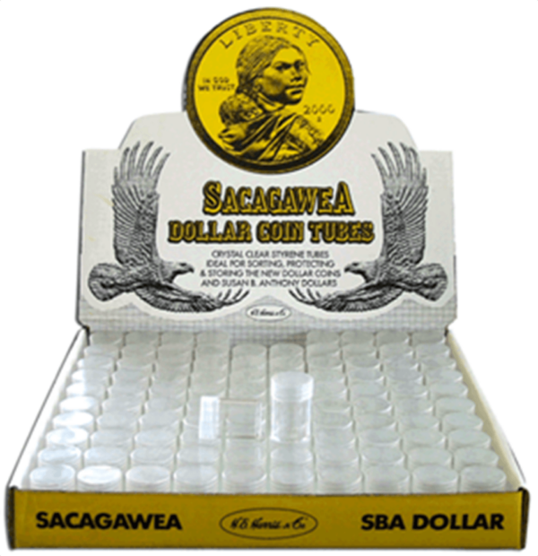 Round Coin Tube-SBA, 100/bx