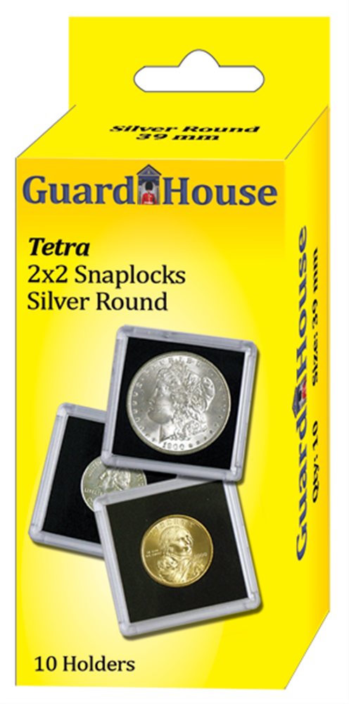 2x2 Silver Round Tetra - 10 per pack
