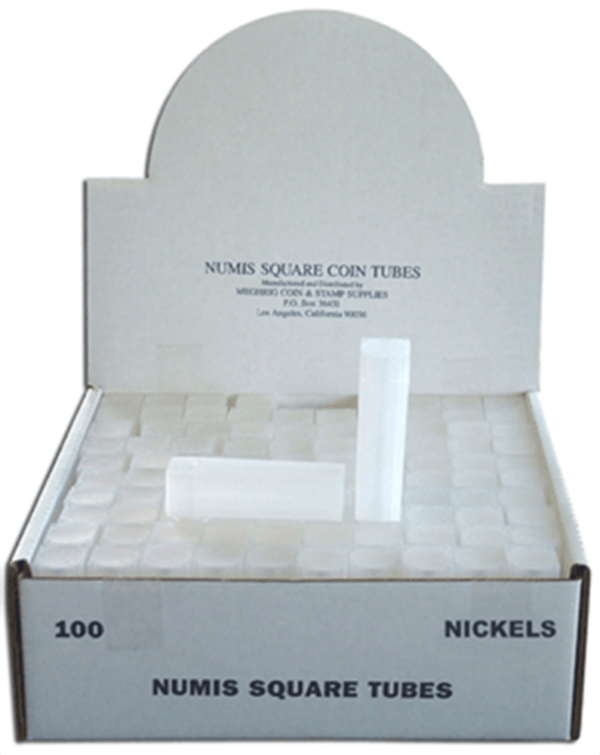 Square Coin Tube -Nickel-100/bx