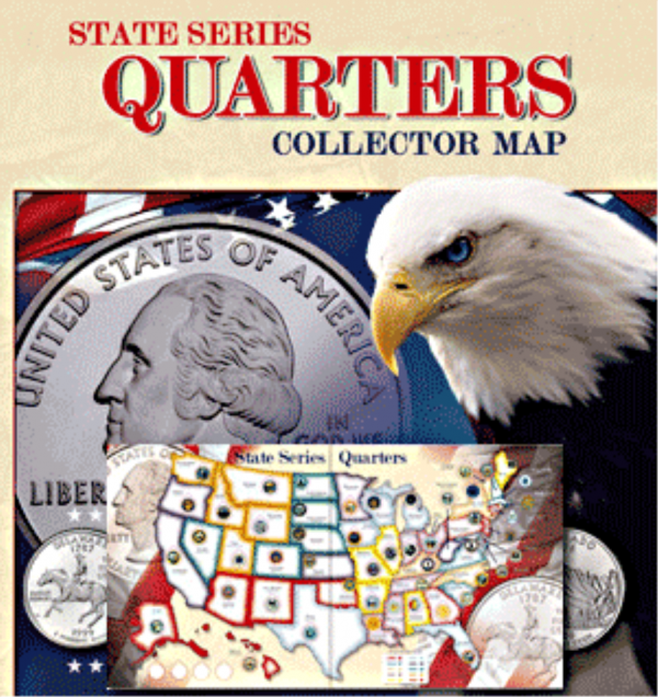 State Quarter Series Quarters Collector Map
