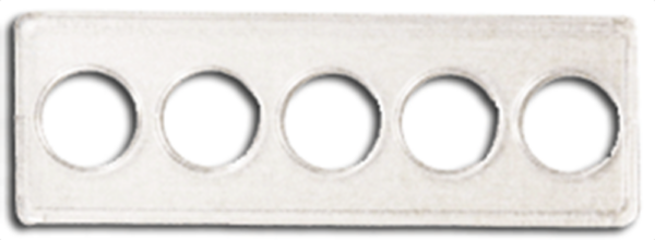 2x6 State Quarter Strip 5 Hole - 25/pack