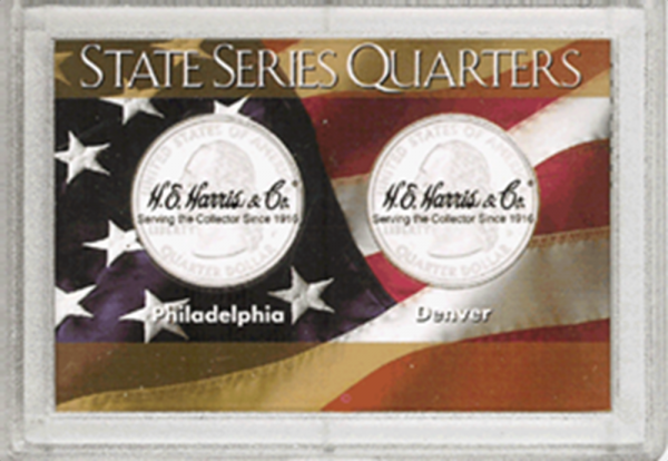 State Quarters P&D Frosty Case - 2 Hole