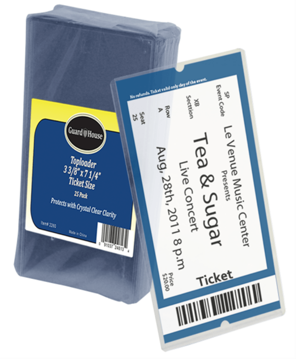 Ticket Size Toploader – 3 3/8×7 1/4
