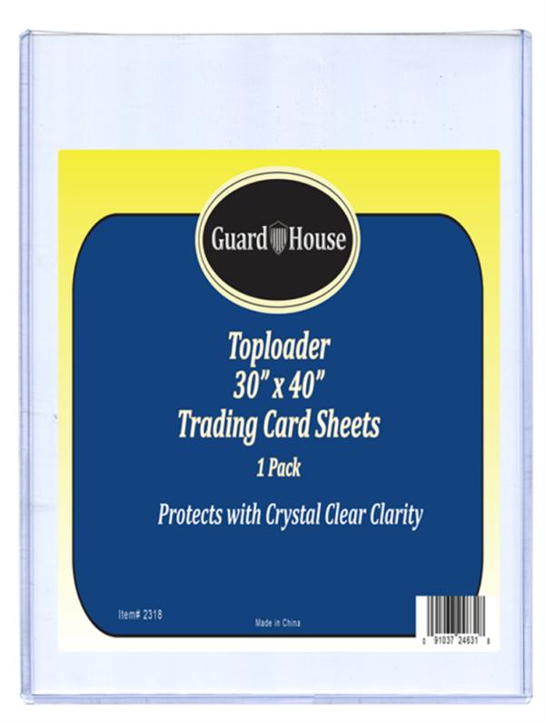 Trading Card Sheet Toploader – 30×40