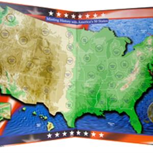 US Commemorative Quarter Map — Millennium edition Lincoln Memorial