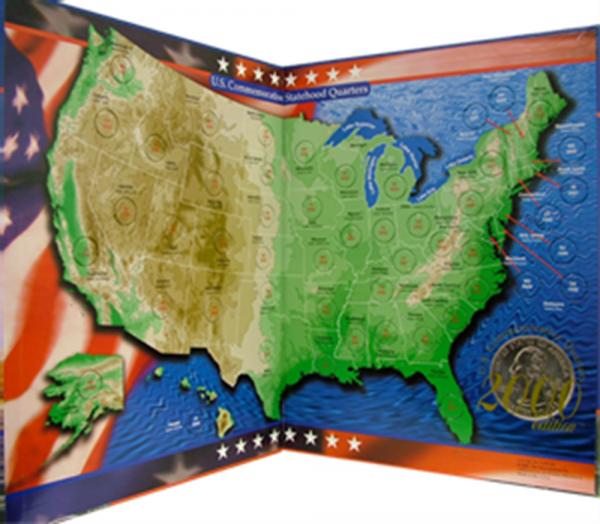 US Commemorative Quarter Map — Mount Rushmore Map