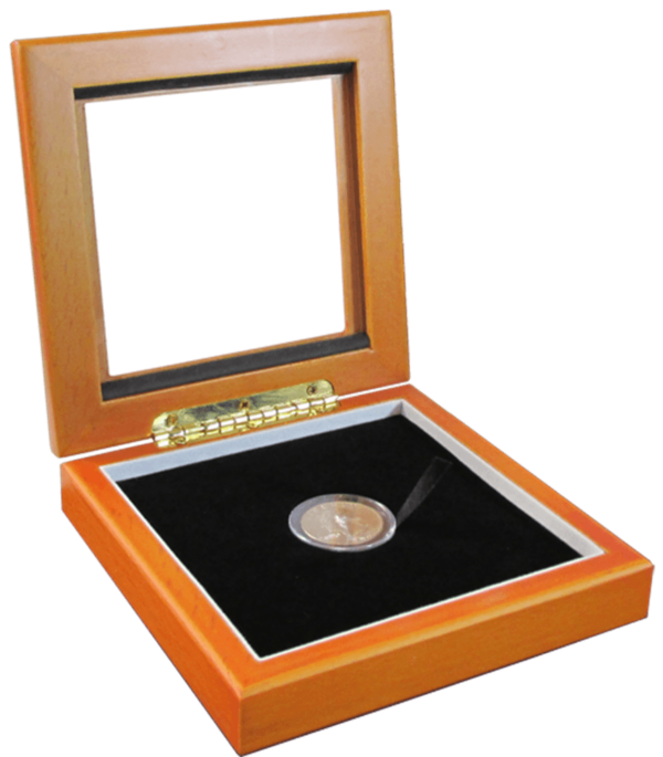 Guardhouse Glass-top Wood Display Box – Holds Small Sized Capsule