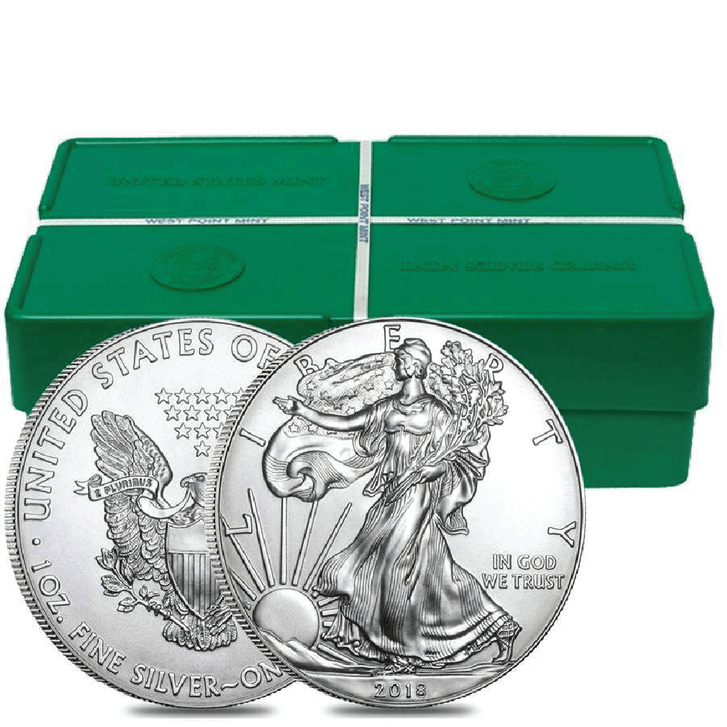 1 case of 500 silver Eagles (Monster Box)