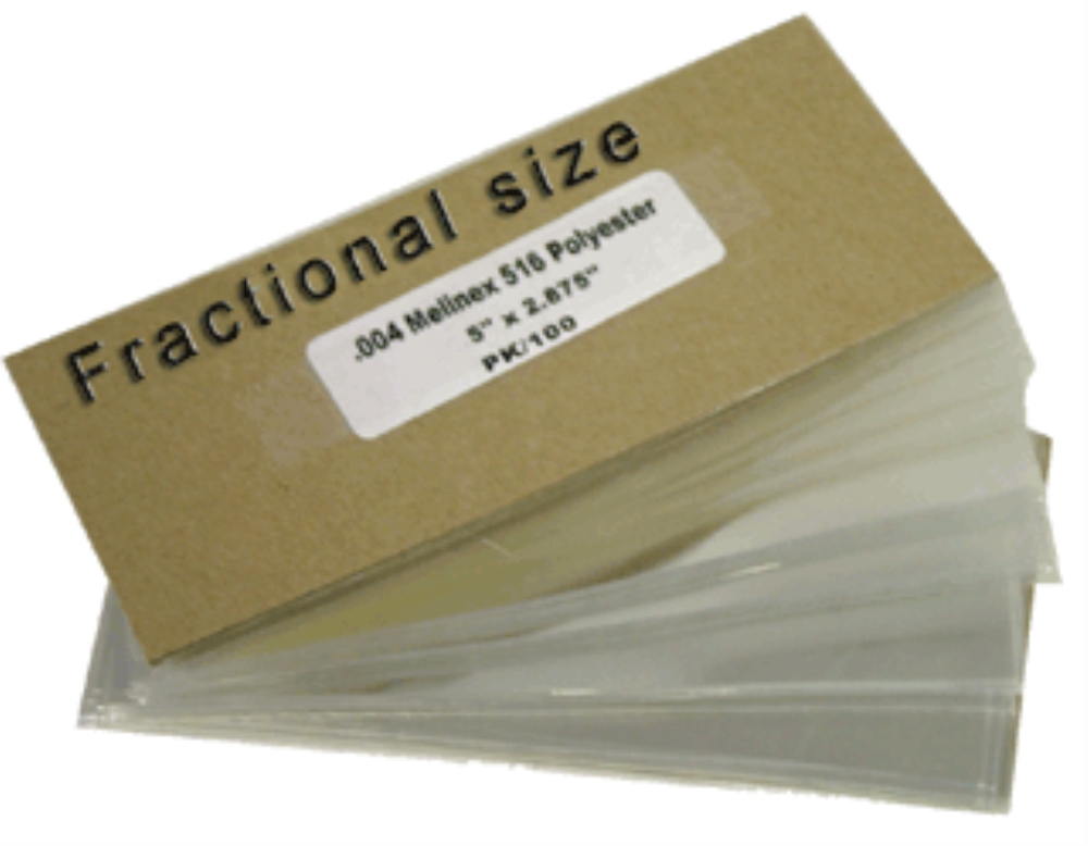 Melinex Fractional Currency Holders 100 per pack