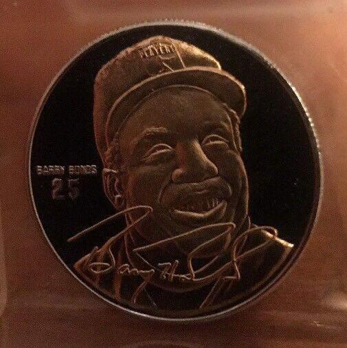 Rare Barry Bonds Limited Edition Silver One Ounce Round