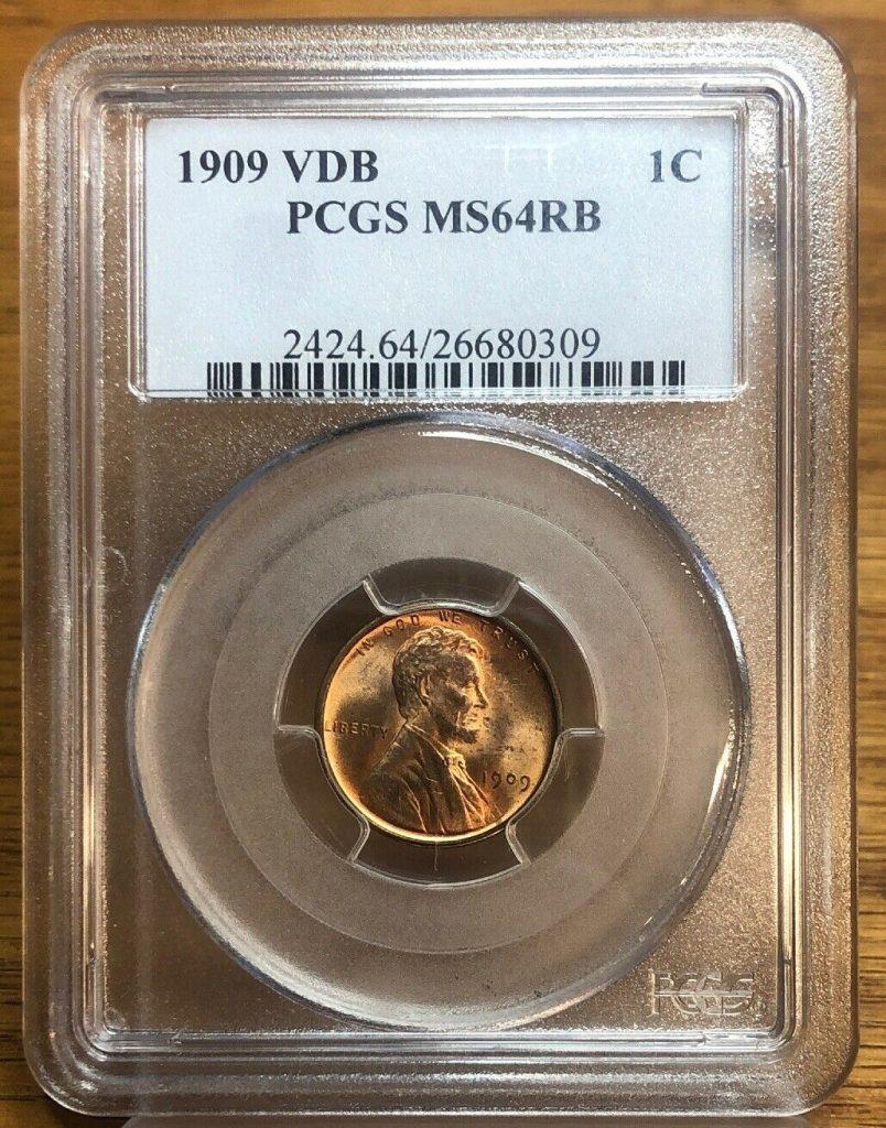 1909 VDB PCGS MS64RB Lincoln NH002
