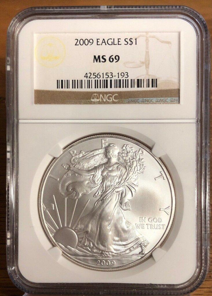 2009 Silver Eagle MS69 NGC NH193