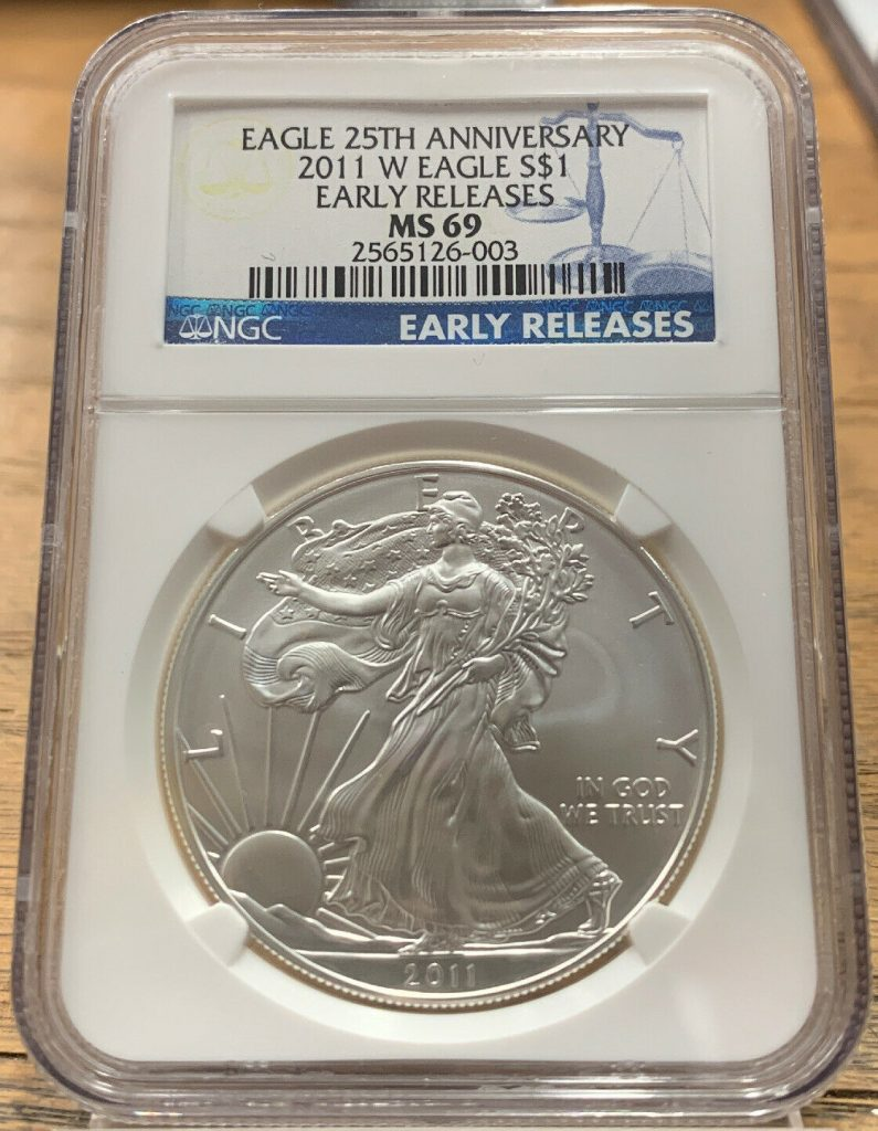 2011-W American Eagle Early Releases 25th Anniversary NGC MS69 AH003