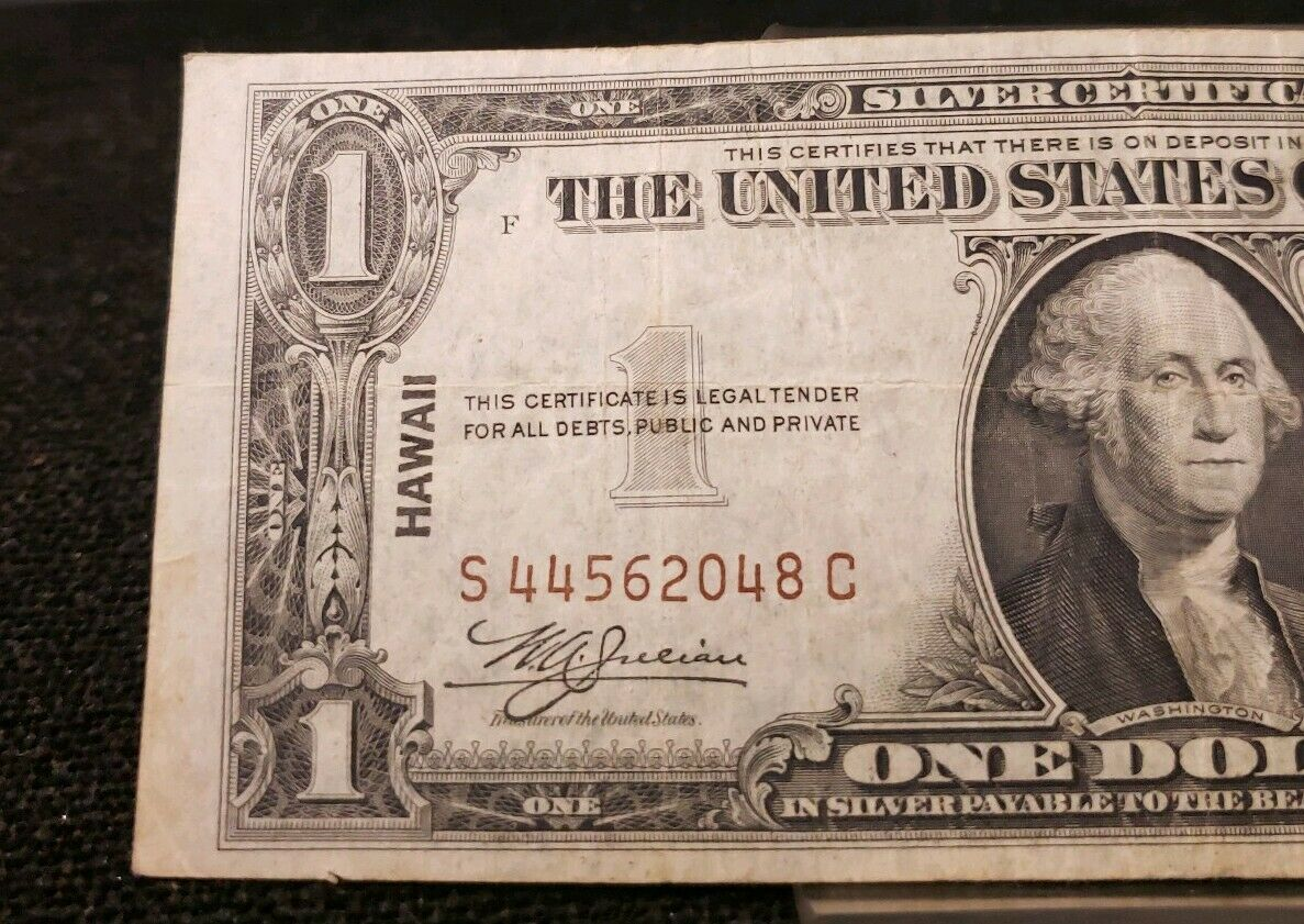 dollar 1935a note hawaii certificates coins
