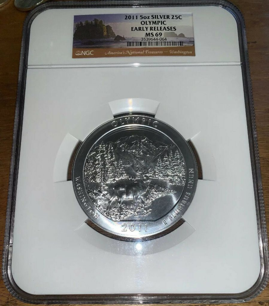 2011 America The Beautiful Olympic NGC MS69 Early Releases AH064