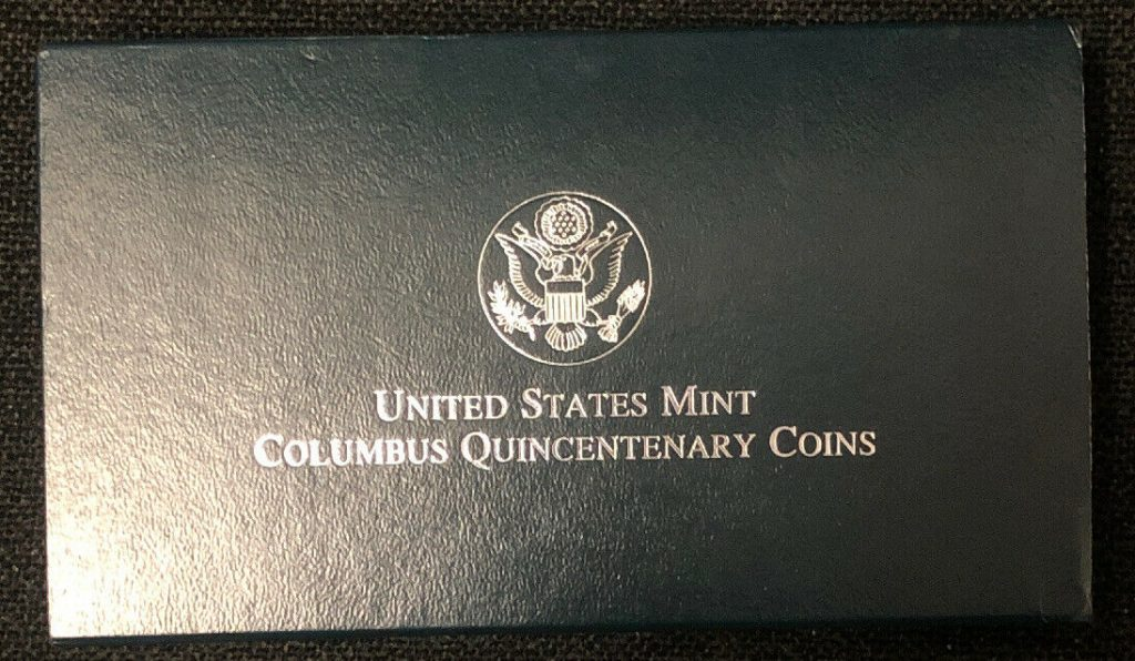 1992 US Mint The Columbus Quincentenary Silver Two-Coin Proof Set W/ COA NH