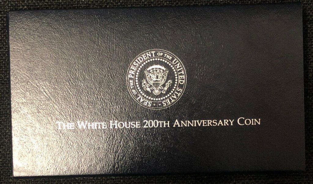 1992 White House 200th Anniversary Coin W/ COA NH