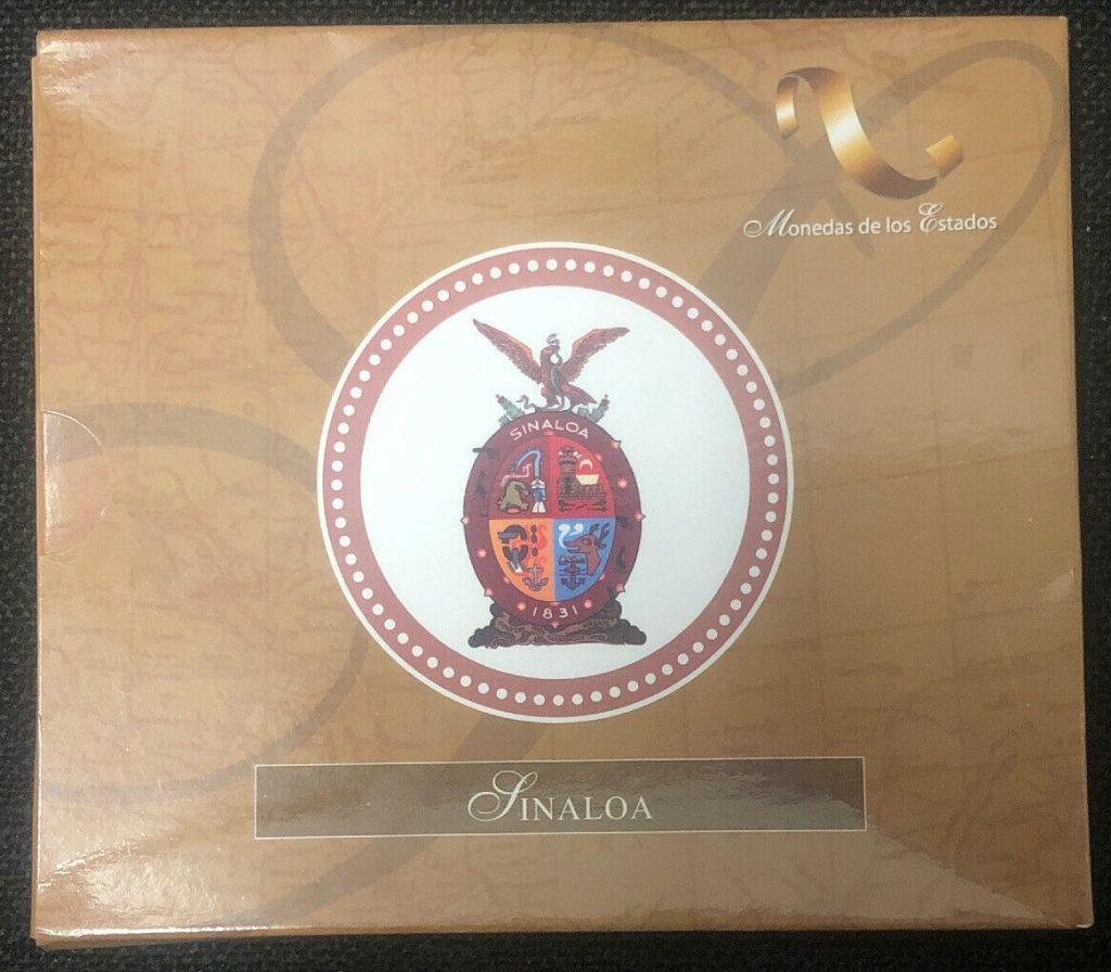 2004 MEXICO SILVER COIN $10 Estado De Sinaloa NH