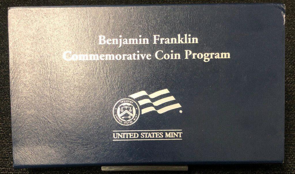 2006 Benjamin Franklin Commemorative Coin Program U.S Mint Silver Dollar NH$1
