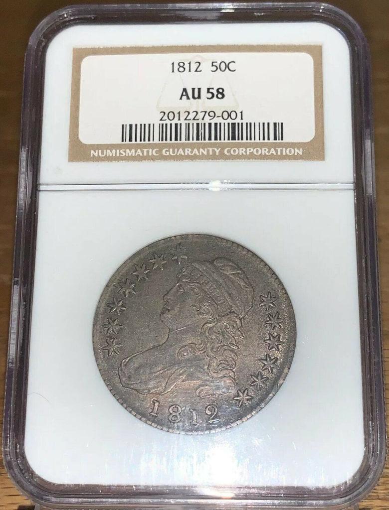 1812 50C Capped Bust Half Dollar - NGC AU58 AH001