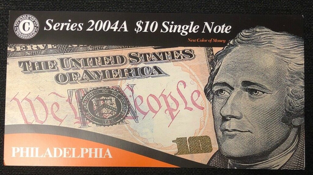 Series 2004A $10 Single Note Bank Of Philadelphia- Low Serial Number NH