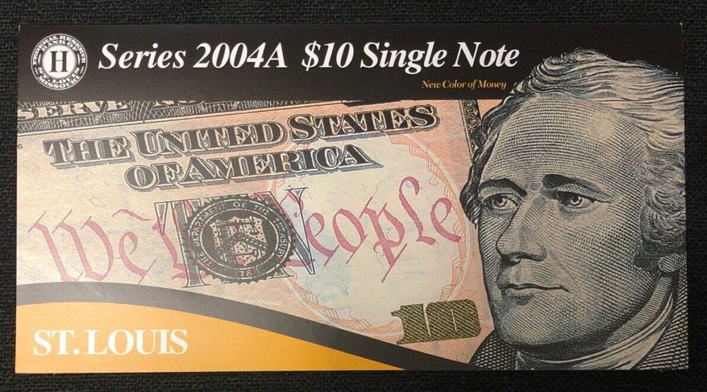 Series 2004A $10 Single Note Bank of St. Louis-Low Serial Number NH