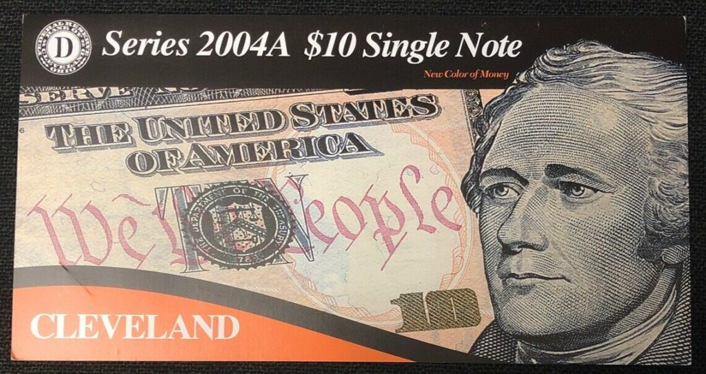 Series 2004A $10 Single Note- Low Serial Number  Cleveland NH
