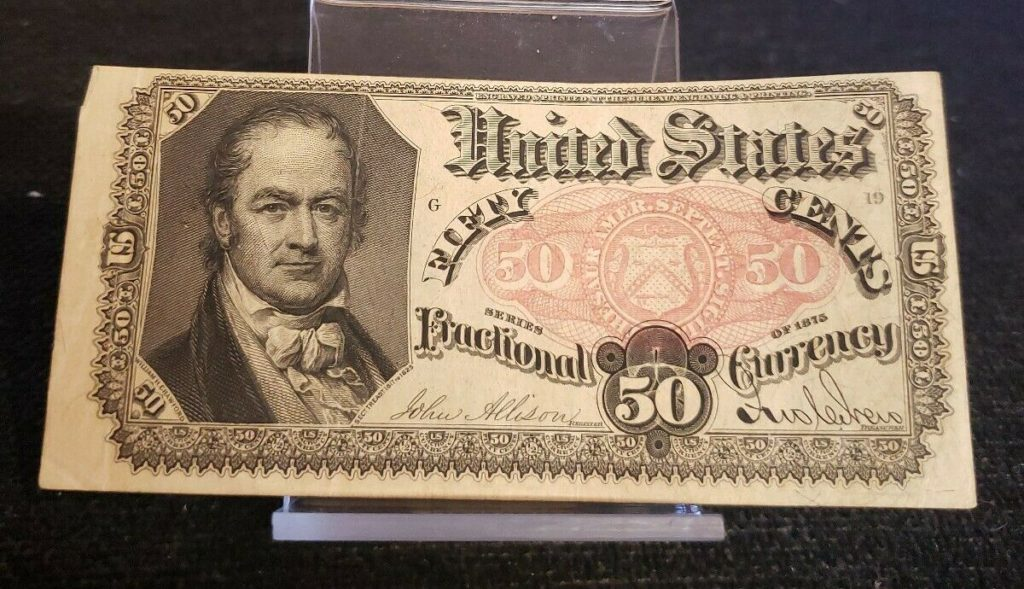 1874 50 Cent Fractional Currency - FIFTH Issue ~ FR 1381