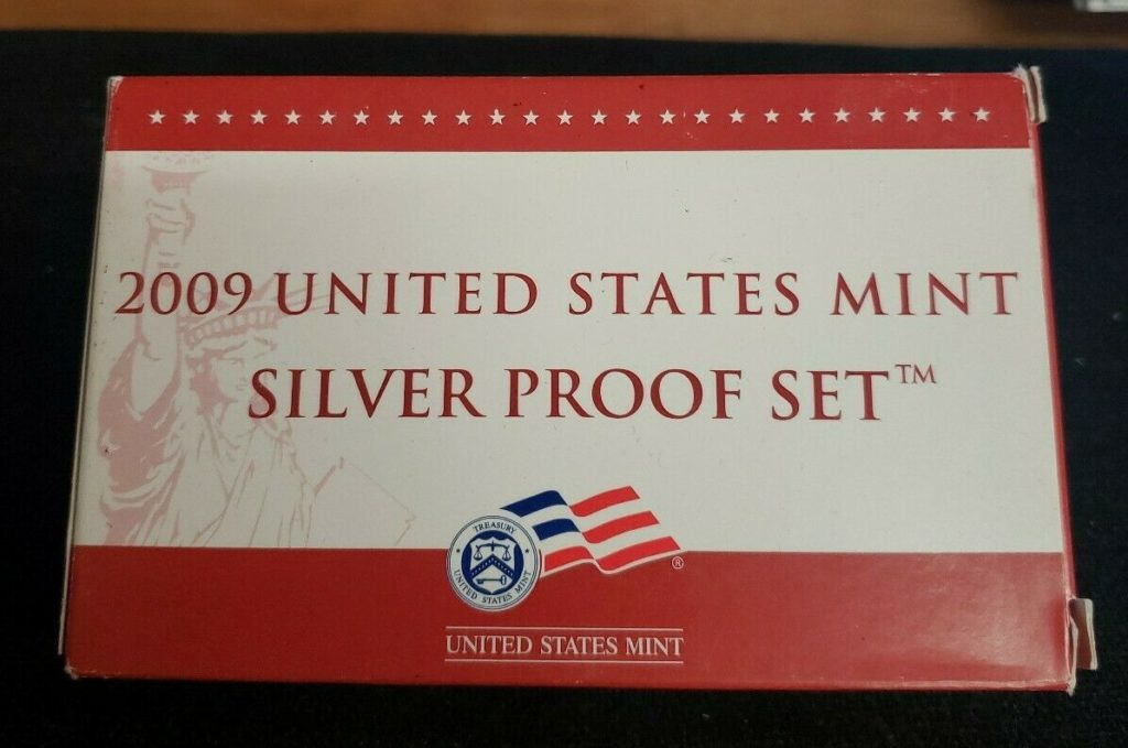 2009 United States Mint Silver Proof Coin Set In Original Packaging with COA XH