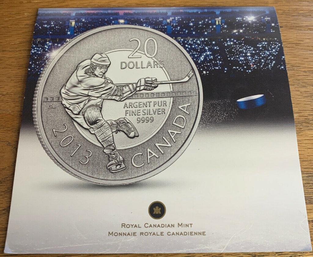 Royal Canadian Mint - Canada 20 Dollars 2013 Silver Proof - Hockey AH