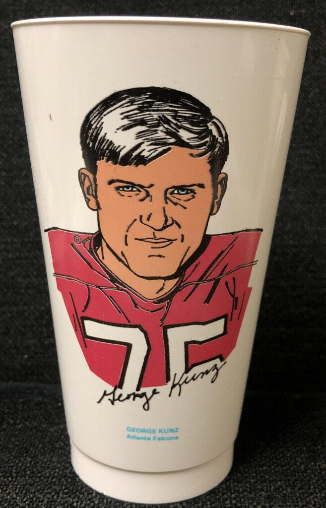 1973 George Kunz Atlanta Falcons Seven Eleven Slurpee Cup NH