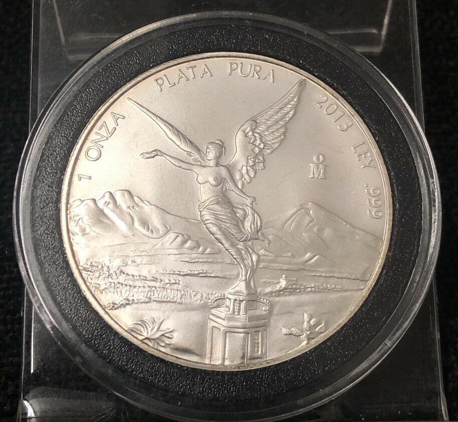 Mexico Libertad 2013 Silver Coin 1 oz Onza Plata Pura Silver NH
