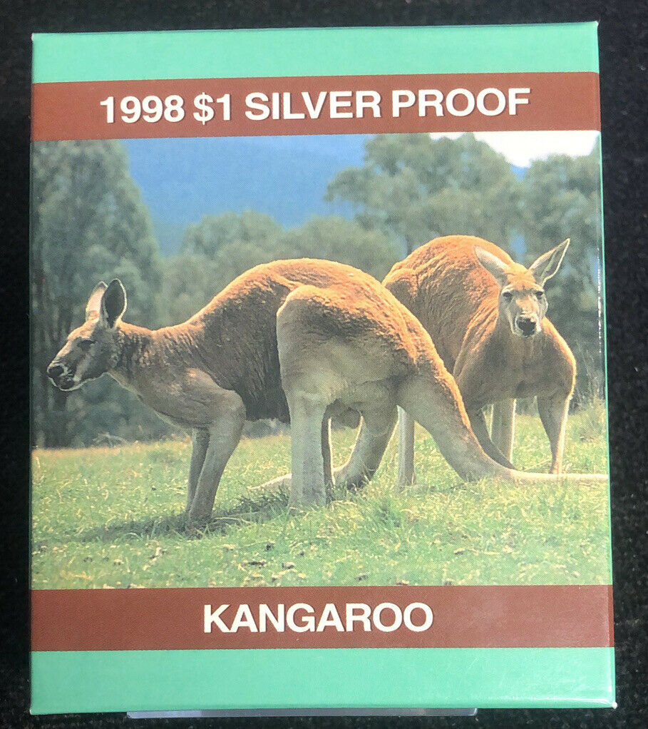 1998 $1 Silver Australian Kangaroo Proof Coin 1 oz .999 Australian Mint NH