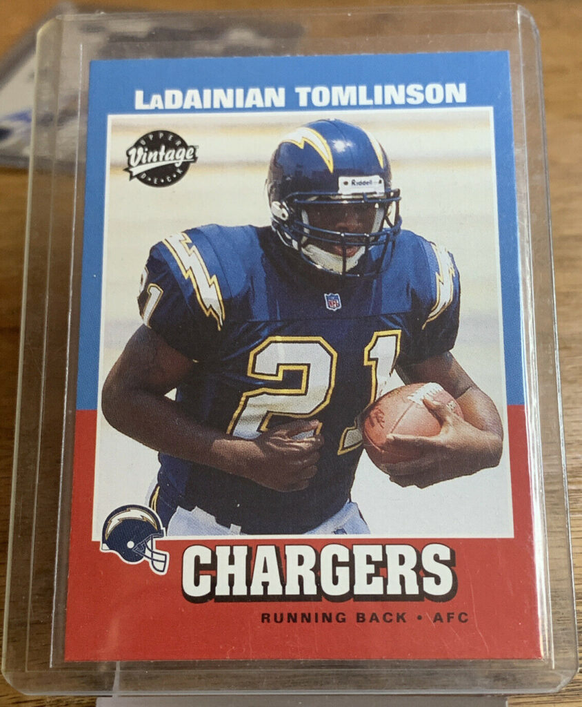 Ladainian Tomlinson 2001 Upper Deck Vintage Rookie San Diego Chargers NFL#252 AH