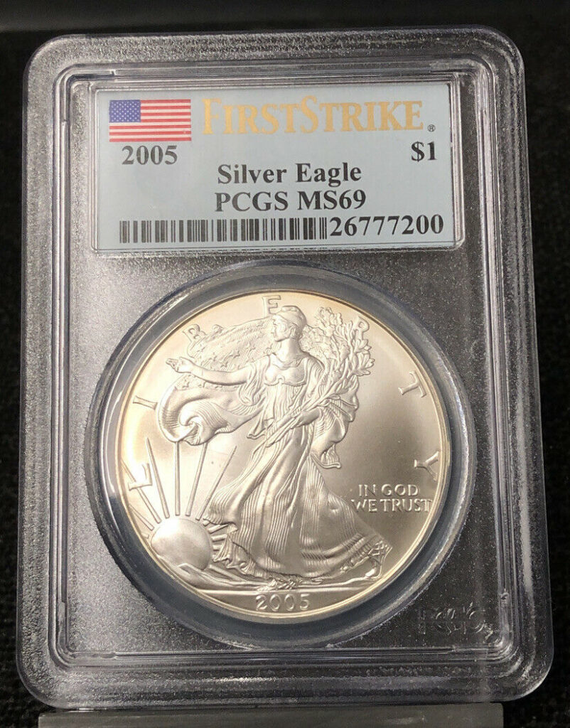 2005 First Strike Silver Eagle PCGS MS69