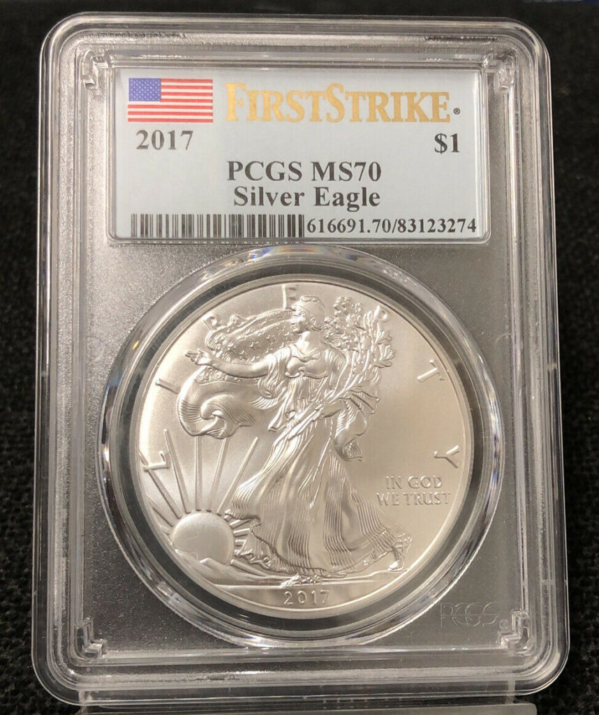 2017 First Strike American Silver Eagle PCGS MS70