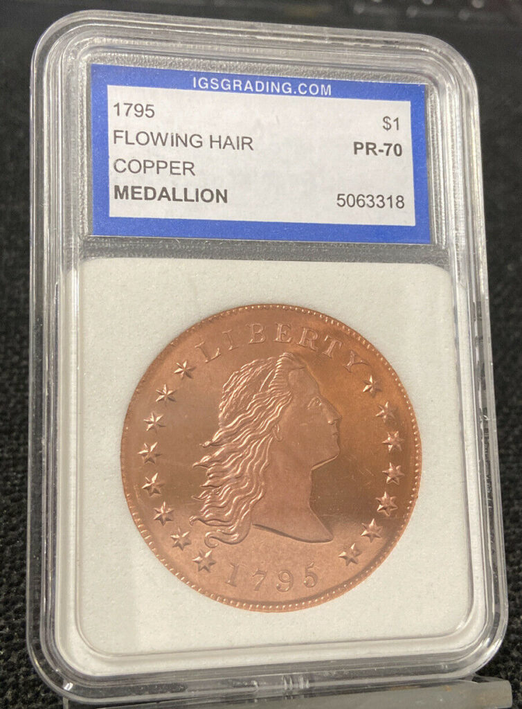 1795 (2004) IGS Grading Flowing Hair Copper Medallion $1 PR-70
