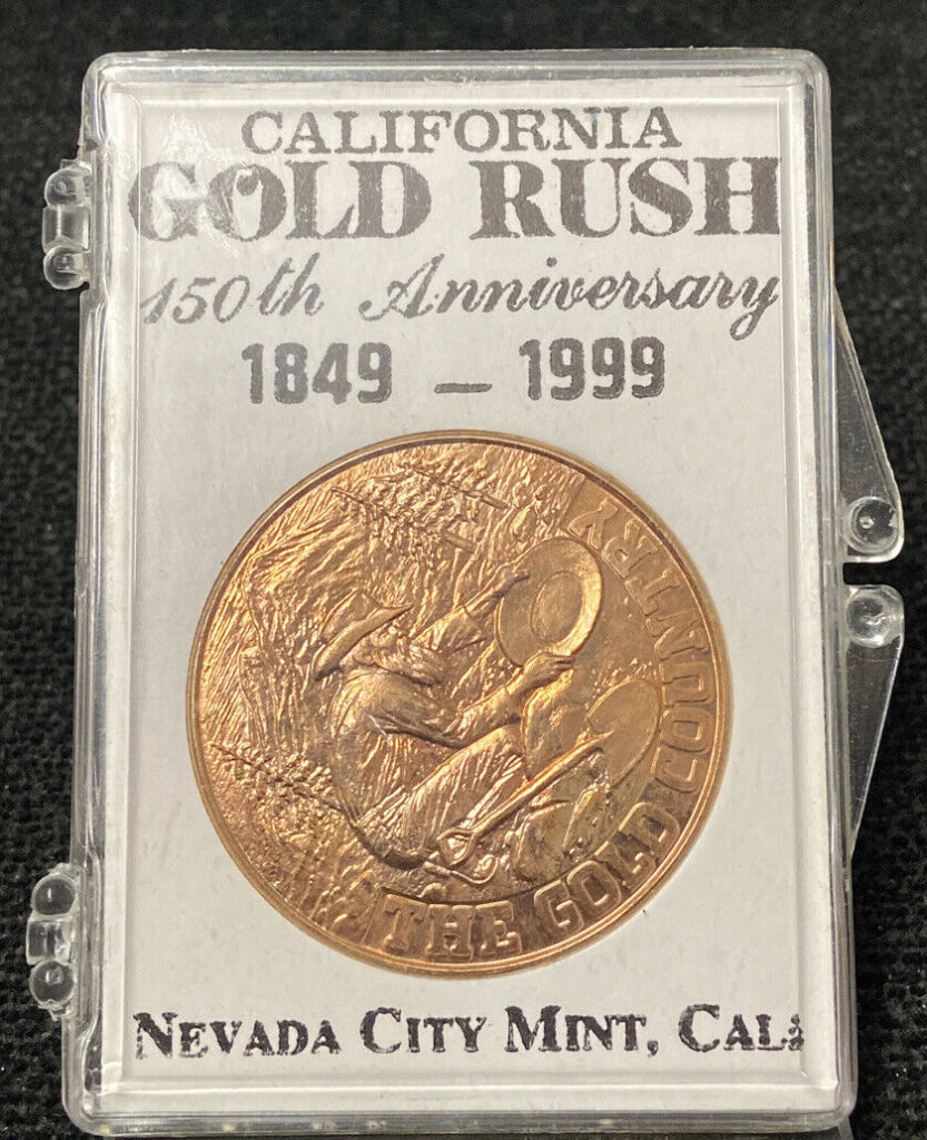 1849-1999 Bronze Medallion 150th Anniversary California Gold Rush Commemorative