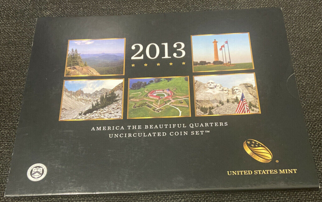 2013 American Beautiful Quarters Uncirculated Coin Set United States Mint P